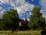 Drevený stĺpový kostolík z 13 storočia v Lome...