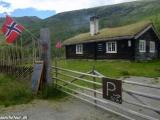 Kaviareň v nórskych horách...