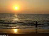 Západ slnka v južnej Indii...