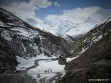 V pozadí Annapurny a Gangapurna...