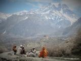 Hinduistický svätí muži na púti do Muktinathu...