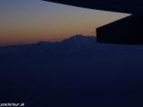 Annapurna cieľ nášho treku z lietadla pri prílete do Nepálu...