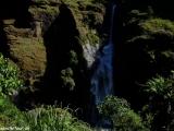A prvé kroky na treku a jeden z prvých vodopádov...