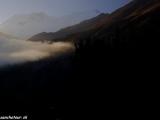 Ráno nad Annapurnami, konkrétne Annapurna II. a IV...