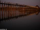 Západ slnka na moste U Bein bridge...