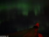 Polárna žiara nad Sibírou počas letu domov...