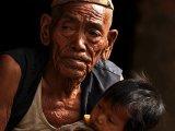 Ľudia v údolí rieky Myagdy Khola...