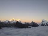 Západ slnka nad Mt. Everestom...