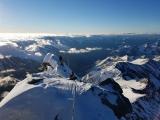 Krásne ráno na vrcholovom hrebeni...