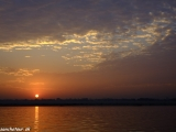 Východ slnka nad Gangou...