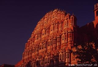 Palác vetrov v Jaipure...