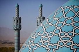 Strechy mešity v Maháne...