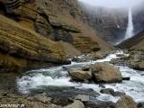Hengifoss - tretí najvyšší vodopád Islandu...