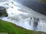 Vodopád Gulfoss alebo Zlatý vodopád na rieke Hvíta....