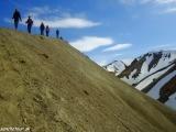 Zostup z kopca Blahnúkur v Dúhových horách...