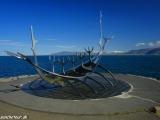 Slnečná loď v Reykjavíku...