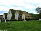 Skanzen ľudovej architektúry na severe Islandu...
