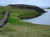 Pseudokrátery v blízkosti jazera Mývatn - Komárieho jazera...