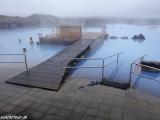 Oddych v prírodnom kúpalisku v blízkosti jazera Mývatn...