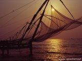Čínske rybárske siete v Kochine...