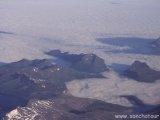 Nórske hory z lietadla...