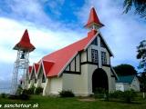 Kostolík na najsevernejšom mieste ostrova...