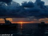 Západ slnka nad Flic en Flac....