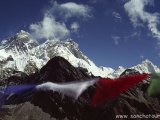 Pohľad na M.Everest z vrcholu Gokyo Peaku...