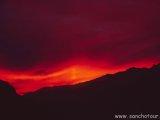 Západ slnka nad Luklou...