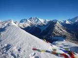 Himaláje, v pozadí Mt. Everest...
