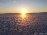 Západ slnka v púšti Gobi...