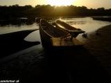 Západ slnka v NP Chitwan...