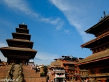 Najvyššia pagoda v Nepále v kráľovskom meste Bhaktapur...