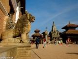 Námestie Durbar Square v Bhaktapure...