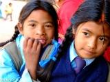 Nepálske školáčky...