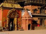 Pred kráľovským palácom v Bhaktapure...