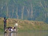 Kanoe safari po rieke rapti v NP Chitwan...