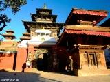 Kathmandu - chrámové námestie Durbar Square...
