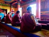 V budhistickom chráme v Káthmandu...