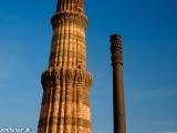Qutub Minar najvyšší minaret v Indii a tajomný železný stĺp...