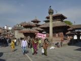Námestie Durbar Square v Káthmandu...