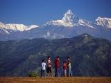 Hora Machapuchre nad Pokharou...