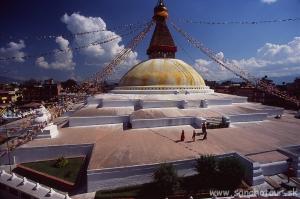 Budhanáth - najväčšia budhistická stupa na svete....