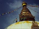 Swayabunáth - Opičí chrám nad mestom Káthmandú...