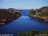Nórsko - švédska hranica na Svinesundskom moste...