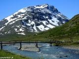Začiatok túry na najvyšší kopec Nórska Galdhopiggen....