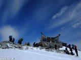 Na vrchole Galdhopiggenu je niekedy husto...