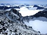 Nórske hory z vrcholu Galdhopiggenu...