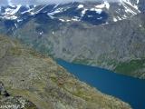 Hrebeň Bessegen nad jazerom Gjende...
