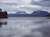 Švédsko, národný park Abisko v pozadí Laponská brána...